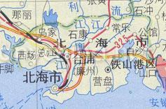 广西壮族自治区北海市行政区域地图 全图
